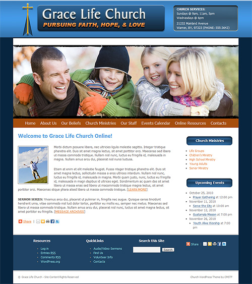 Church WordPress theme.