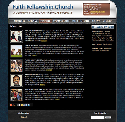 "Church ""Ministries"" WordPress theme."