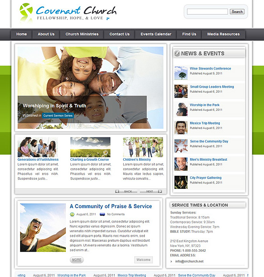 WordPress Church Theme WP43
