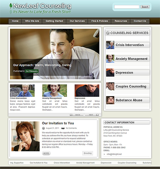 Counselor theme built with WordPress.