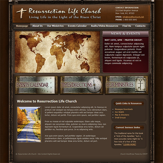 WordPress church theme WP56.